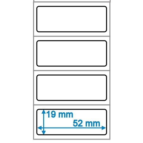 etiketten 52x19mm weiss zum selbstbeschriften. Black Bedroom Furniture Sets. Home Design Ideas