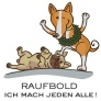shop grafik illustration hund raufbold rgb mit text